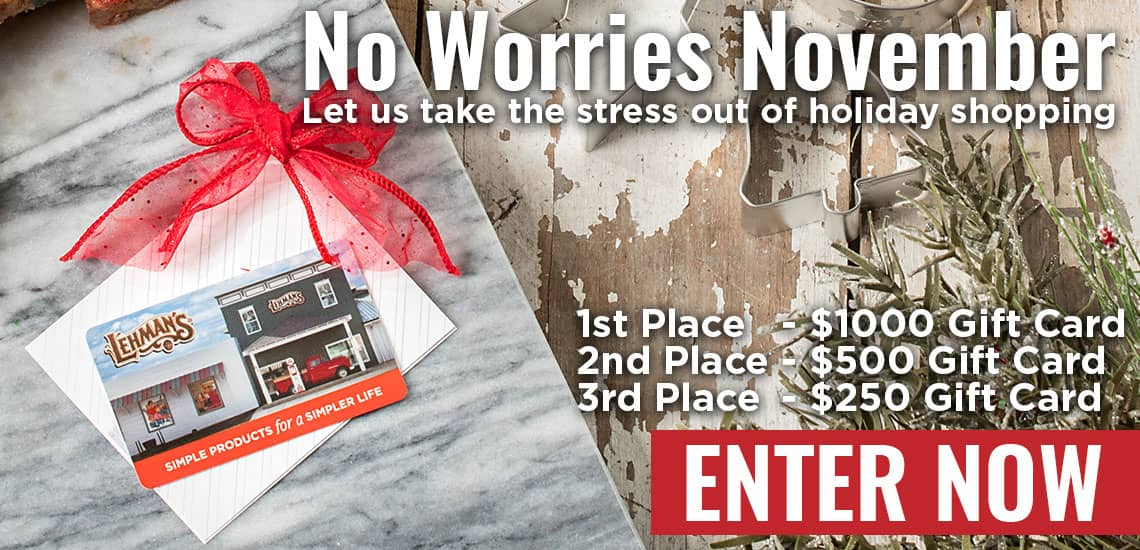 NO WORRIES NOVEMBER SWEEPSTAKES